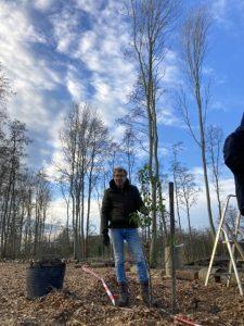Jan de Vries met eerst geplante Conference peer uit fruitbomen actie